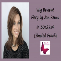 Wig Review:  Fiery by Jon Renau in 30A27S4 (Shaded Peach)