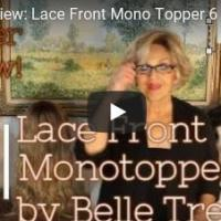 Lace Front Mono Topper 6 by Belle Tress in Sugar Cookie with Hazelnut