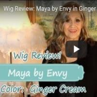 Wig Review:  Maya by Envy in Ginger Cream