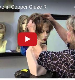 Sky Wig by Noriko in Copper Glaze-R