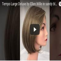 Tempo 100 Large Deluxe Wig by Ellen Wille in Sandy Blonde Mix