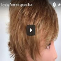 Tova by Amore in apricot frost
